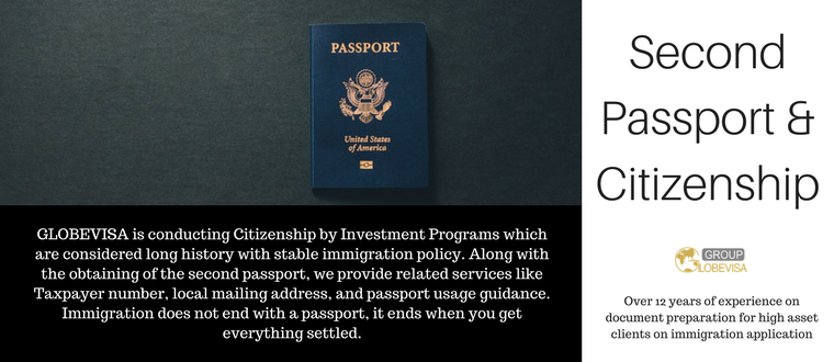 Second passport and citizenship